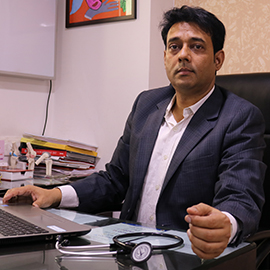 dr. manish kumar is a diabetologist and general physician in medicity hospital kharghar, navi mumbai